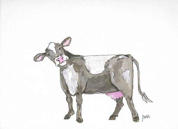 Wall Art - Painting - Cow by Molly Susan Strong