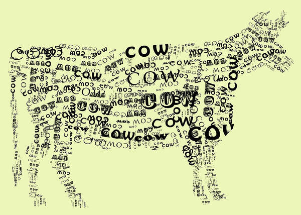 Wall Art - Digital Art - Cow Print by Heather Applegate