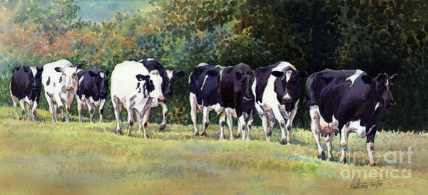 Wall Art - Painting - Cow Trail by Anthony Forster