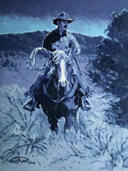 Wall Art - Painting - Cowboy Blues by Randy Follis