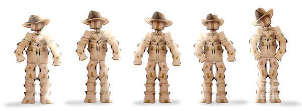 Gunslinger Photograph - Cowboy Box Characters On White by Simon Bratt Photography LRPS