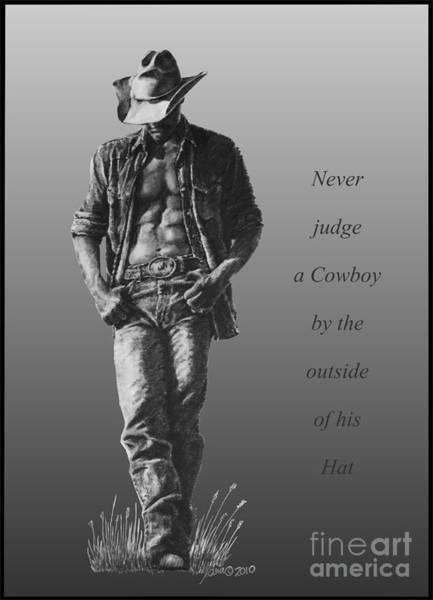 Digital Art - Cowboy Hat Verse by Marianne NANA Betts