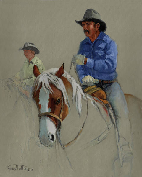 Wall Art - Painting - Cowboy by Randy Follis