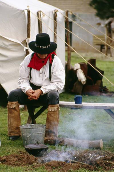 Cowboy Re-enactor Art Print