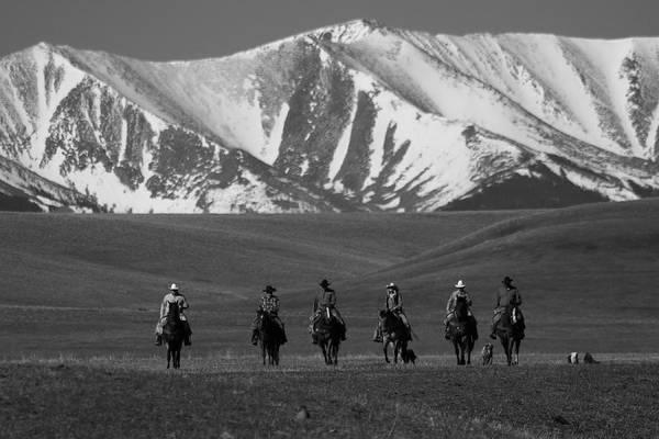 Crazy Horse Photograph - Cowboy Ride by Richard Cheski