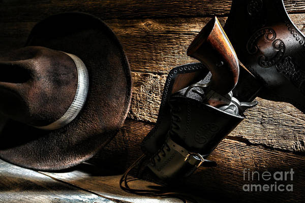 Revolver Photograph - Cowboy Safety by Olivier Le Queinec