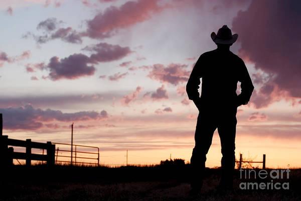 Photograph - Cowboy Sunset by Cindy Singleton