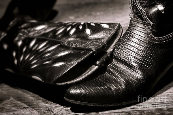 Alligators Wall Art - Photograph - Cowgirl Gator Boots by Olivier Le Queinec