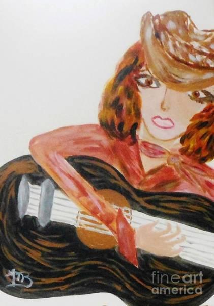 Cowgirl Singer Art Print by Marie Bulger