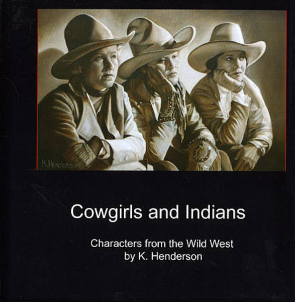 Wall Art - Painting - Cowgirls And Indians Book By K Henderson by K Henderson