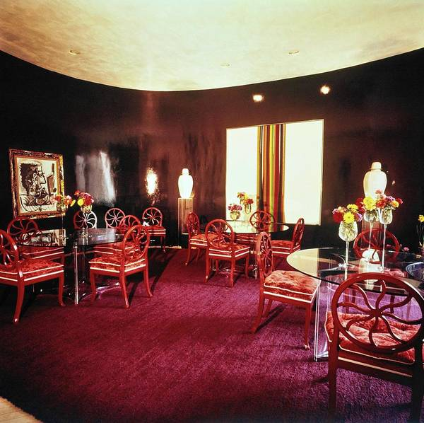 Antique Furniture Photograph - Cowles' Dining Room by Horst P. Horst