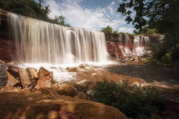 Photograph - Cowley County Falls by Scott Bean