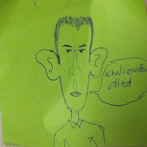 Kalashnikov Photograph - Coworker Drew A Picture Of Me The Other by . .