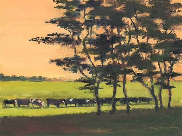 Painting - Cows 6 by J Reifsnyder