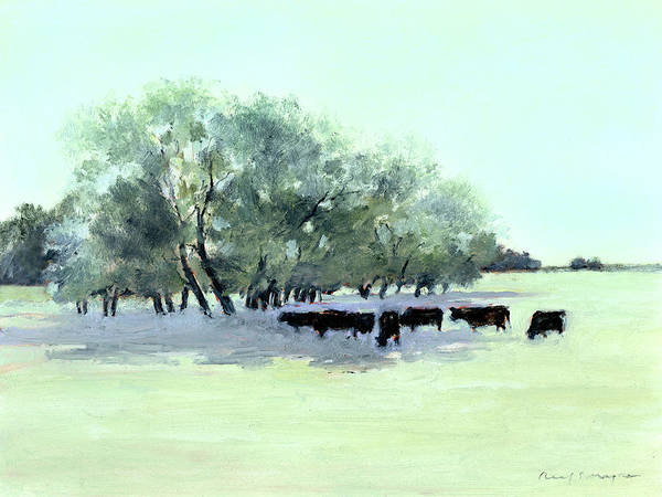 Painting - Cows 7 by J Reifsnyder