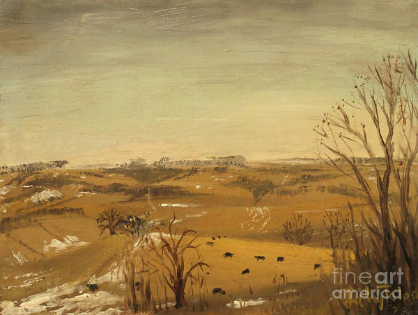Painting - Cows In The Corn Fields by Art By Tolpo Collection