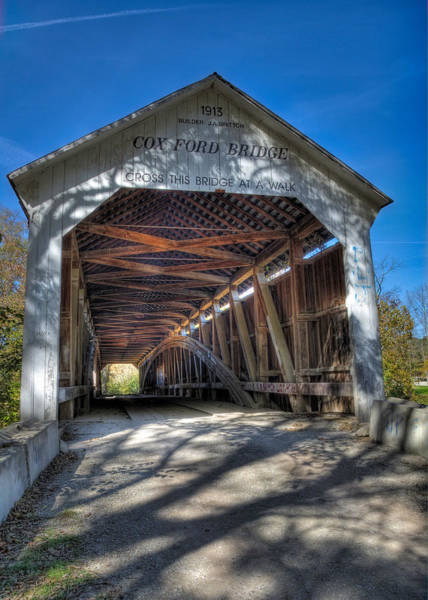 State Of Indiana Photograph - Cox Ford Covered Bridge by Alan Toepfer