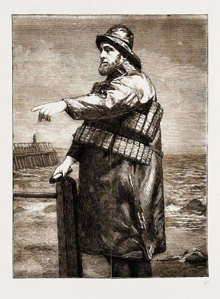Hook Drawing - Coxswain Robert Hook Of The Lowestoft Lifeboat Samuel by Litz Collection