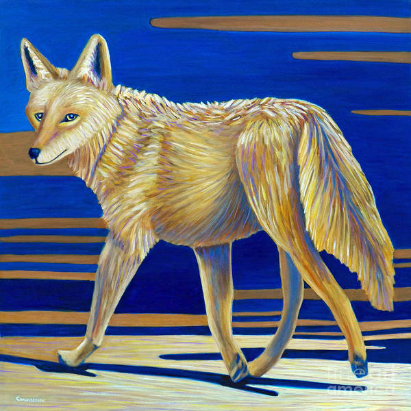 Wall Art - Painting - Coyote Crossing by Brian  Commerford