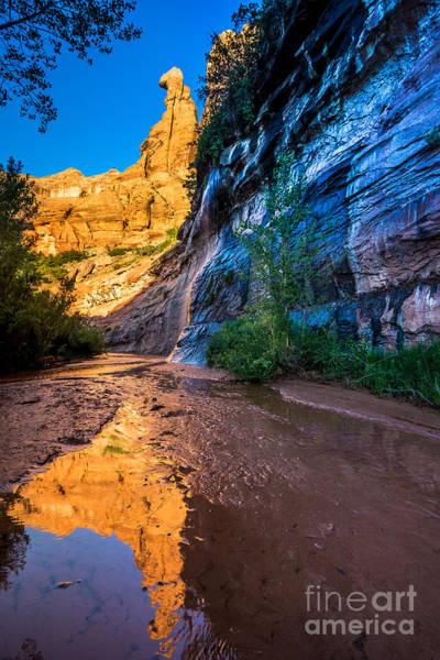 Escalante Wall Art - Photograph - Coyote Gulch Sunrise - Utah by Gary Whitton