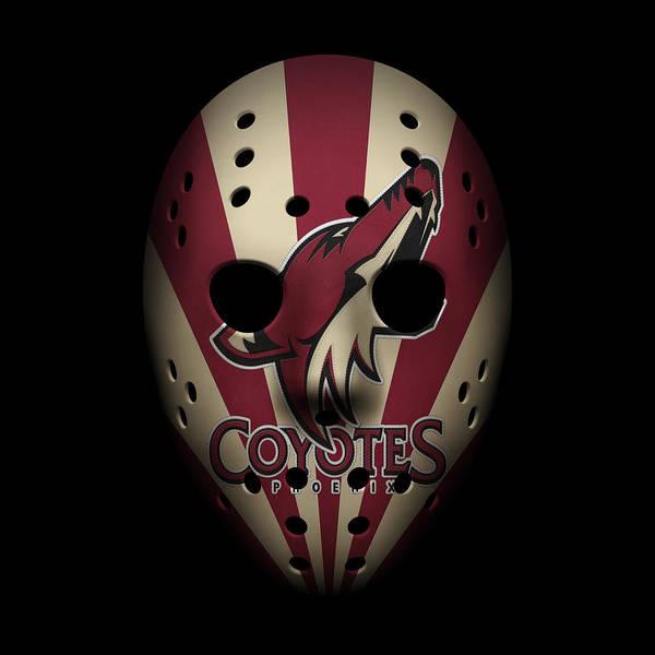 Coyote Photograph - Coyotes Goalie Mask by Joe Hamilton