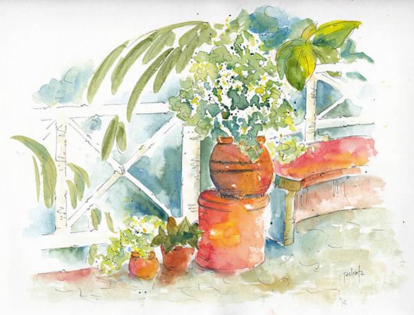 Painting - Cozumel Courtyard by Pat Katz