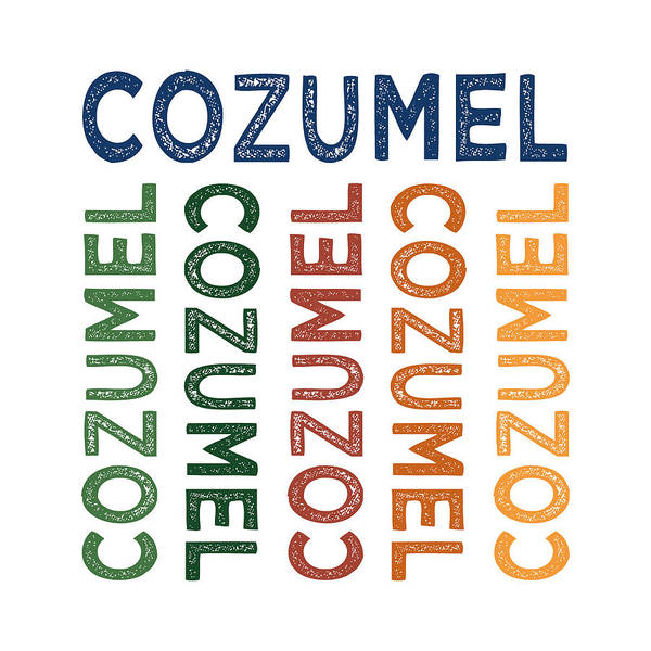 Cheerful Digital Art - Cozumel Cute Colorful by Flo Karp