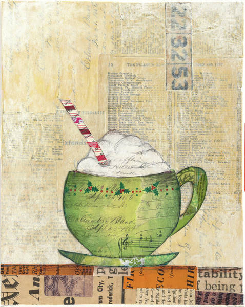Whipped Cream Painting - Cozy Cups II by Courtney Prahl