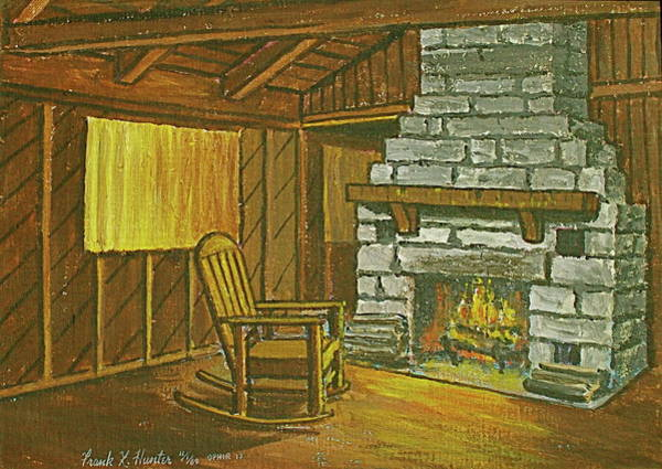 Painting - Cozy Fireplace At Lake Hope Ohio by Frank Hunter