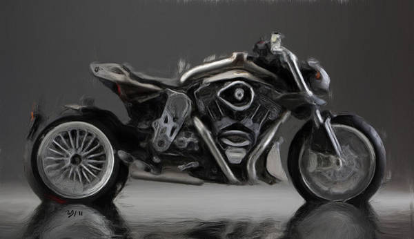 Bike Racing Painting - Cr And S  Duu by Wayne Bonney