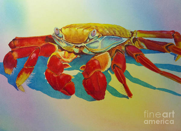 Painting - Colorful Crab  by Greg and Linda Halom