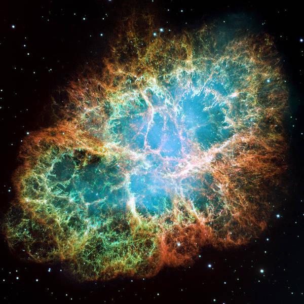 Photograph - Crab Nebula by NASA and ESA