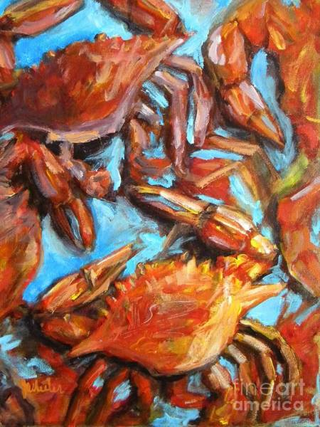 Wall Art - Painting - Crab Pile by JoAnn Wheeler