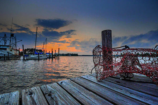 Painting - Crab Traps On The Dock by Michael Thomas
