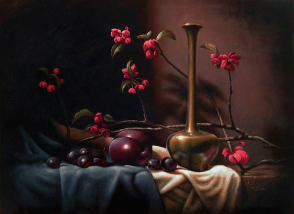 Wall Art - Painting - Crabapple Blossoms by Timothy Jones
