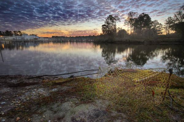Digital Art - Crabbing At Sunrise by Michael Thomas