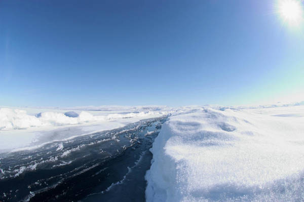 Lancaster Photograph - Crack In Arctic Sea Ice by Louise Murray/science Photo Library