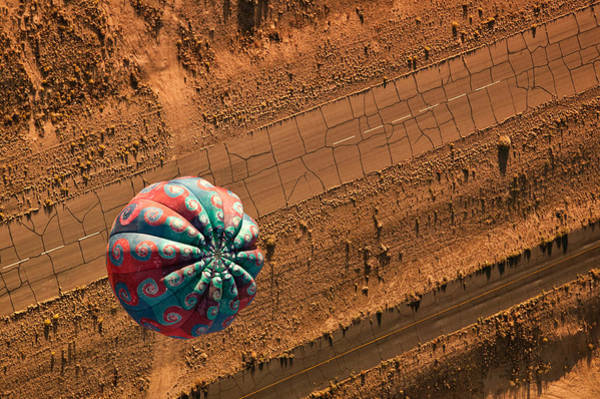 Air Balloon Wall Art - Photograph - Cracked Highway by Keith Berr