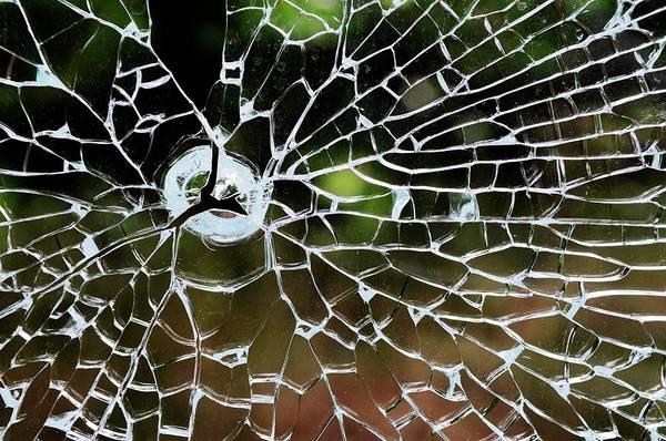 Technological Wall Art - Photograph - Cracked Safety Glass by Bildagentur-online/mcphoto-schulz