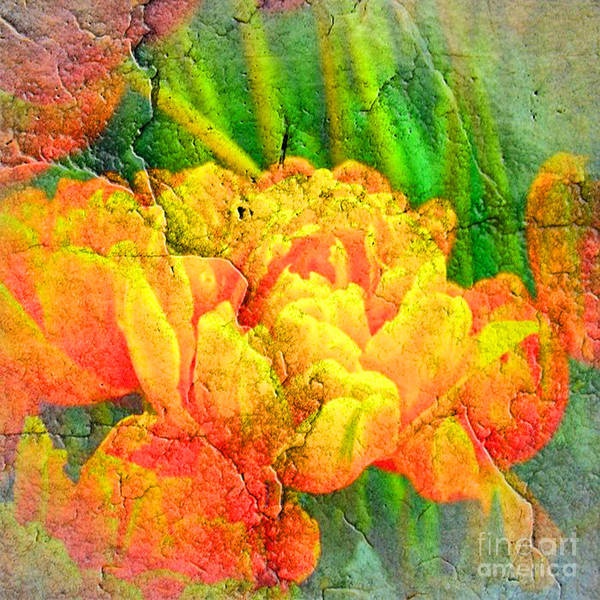 Yellow Trumpet Digital Art - Cracks 5 by Michael Anthony