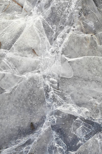 Cracked Photograph - Cracks In Ice by Tricia Shay Photography
