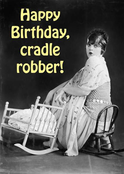 Wall Art - Photograph - Cradle Robber Greeting Card by Communique Cards