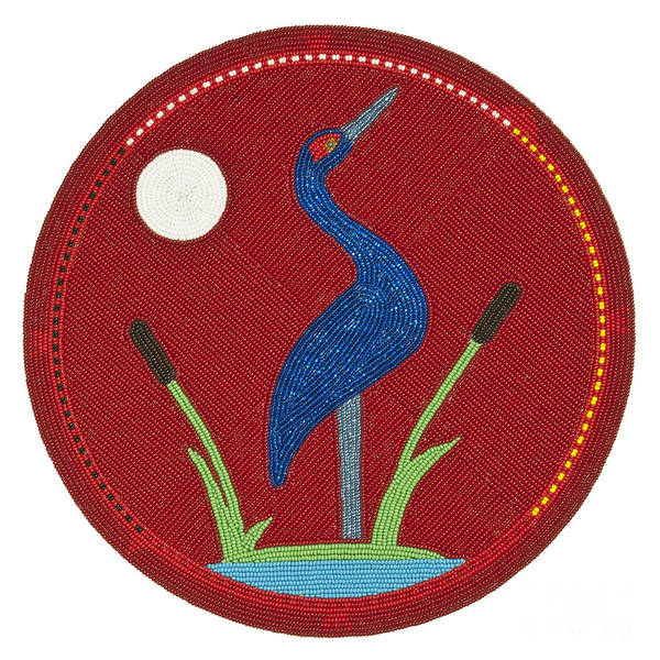 Digital Art - Cradleboard Beadwork Summer Crane by Douglas K Limon