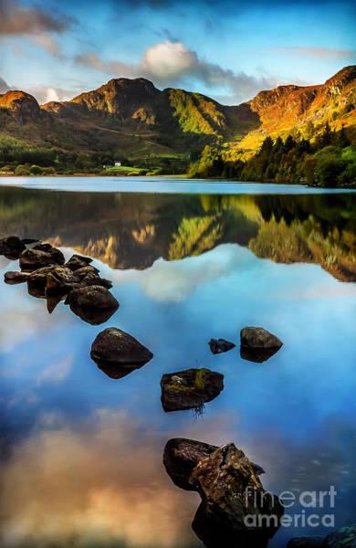 Coed Photograph - Crafnant Rocks V2 by Adrian Evans