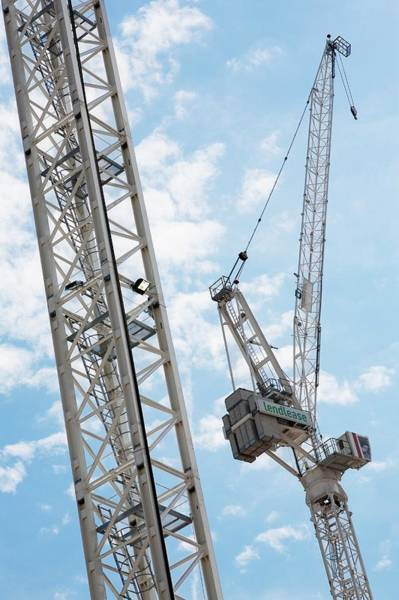 Ladders Photograph - Crane Against Sky by Gustoimages/science Photo Library