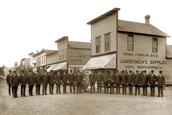 Photograph - Crane And Fenelon And Co. Rhinelander Wisconsin Circa 1895 by California Views Archives Mr Pat Hathaway Archives