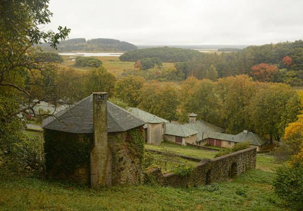 Photograph - Crane Estate On A Misty Day by Nancy De Flon