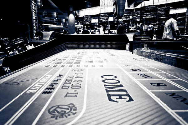 Sin Photograph - Craps Table In Las Vegas by Anthony Doudt