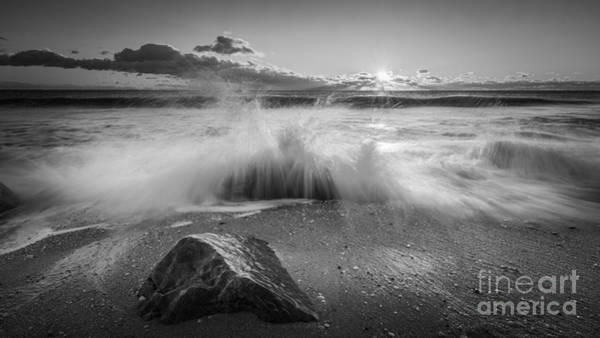 Michael Photograph - Crashing Waves Bw by Michael Ver Sprill