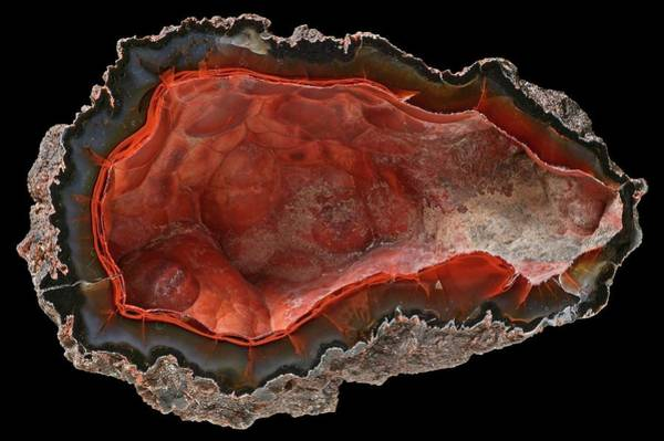 Geodes Photograph - Crater Agate by Natural History Museum, London/science Photo Library
